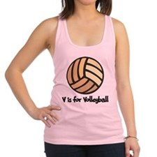 V is for Volleyball Racerback Tank Top