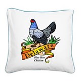 Delaware Chicken Square Canvas Pillow