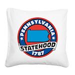 Pennsylvania Statehood Square Canvas Pillow
