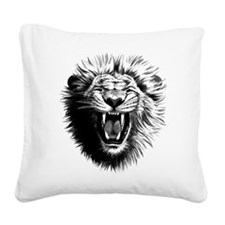 Lion drawing Square Canvas Pillow