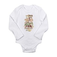 I AM Affirmations Long Sleeve Infant Bodysuit