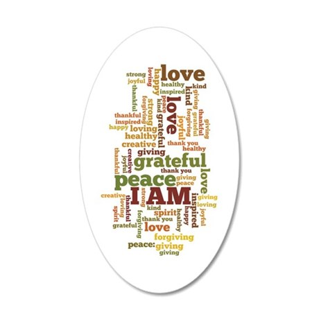 I AM Affirmations 35x21 Oval Wall Decal