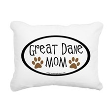 Great Dane Mom Oval Rectangular Canvas Pillow