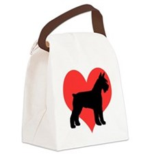 schnauzer 4 red heart.png Canvas Lunch Bag