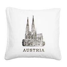 Vintage Austria Square Canvas Pillow