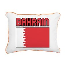 Bahrain Flag Rectangular Canvas Pillow