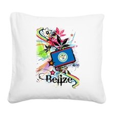 Flower Belize Square Canvas Pillow
