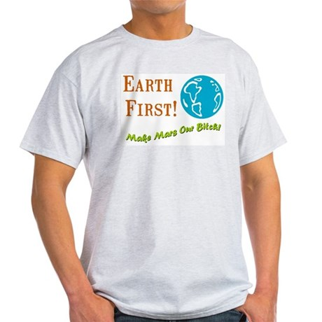 Earth First Ash Grey T-Shirt