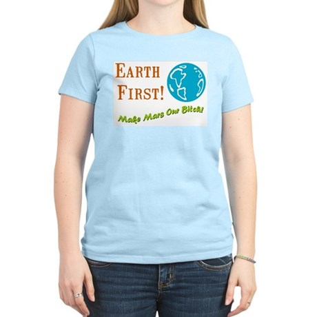 Earth First Women's Pink T-Shirt
