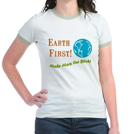 Earth First Jr. Ringer T-Shirt