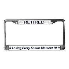 Retired Senior License Plate Frame