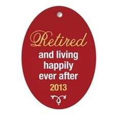 Happy Retirement Ornament (Oval)