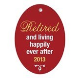 Retirement favors Oval Ornaments