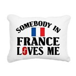 Somebody In France Rectangular Canvas Pillow
