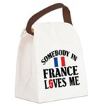 Somebody In France Canvas Lunch Bag