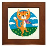 &quot;The Cat and the Fiddle&quot; Framed Tile
