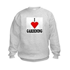 I Love Gardening Kids Sweatshirt