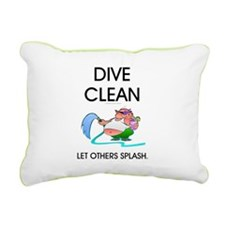 TOP Dive Clean Rectangular Canvas Pillow