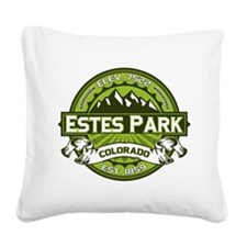 Estes Park Green Square Canvas Pillow