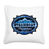 Steamboat Powdertown Ice.png Square Canvas Pillow