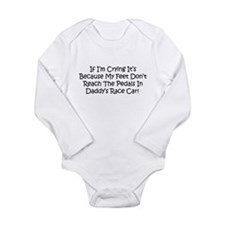 My Daddys Race Car Long Sleeve Infant Bodysuit
