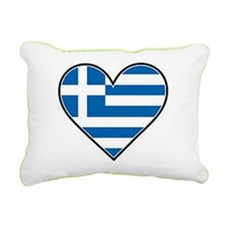 Greek heart flag Rectangular Canvas Pillow