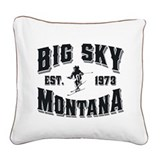 Big Sky Old Style Black.png Square Canvas Pillow