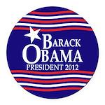 Barack Obama Star and Stripes Round Car Magnet