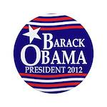 "Barack Obama Star and Stripes 3.5"" Button"