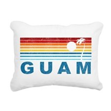 Retro Palm Tree Guam Rectangular Canvas Pillow
