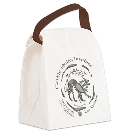 Celtic Lion Coin Canvas Lunch Bag