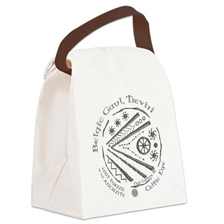 Celtic Eye Coin Canvas Lunch Bag