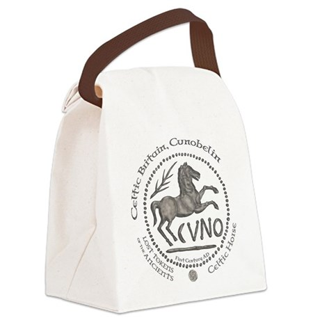 Celtic Horse Coin Canvas Lunch Bag