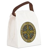 Celtic Compass Canvas Lunch Bag