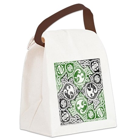 Celtic Knotwork Puzzle Square Canvas Lunch Bag