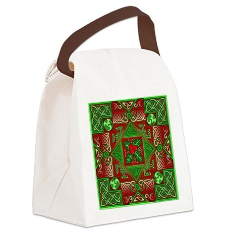 Celtic Labyrinth Holly Canvas Lunch Bag