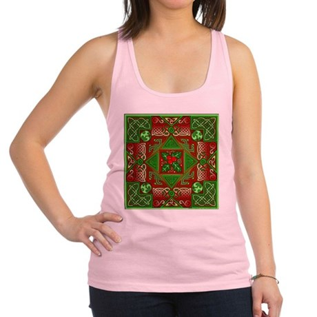 Celtic Labyrinth Holly Racerback Tank Top