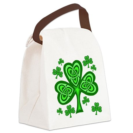 Celtic Shamrocks Canvas Lunch Bag