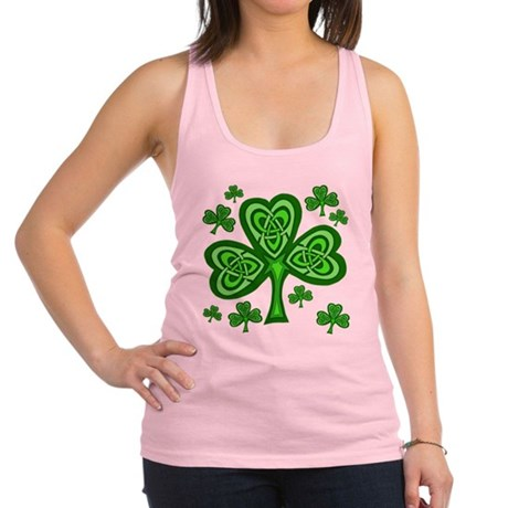 Celtic Shamrocks Racerback Tank Top