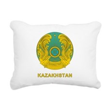 Kazakhstan Coat Of Arms Rectangular Canvas Pillow