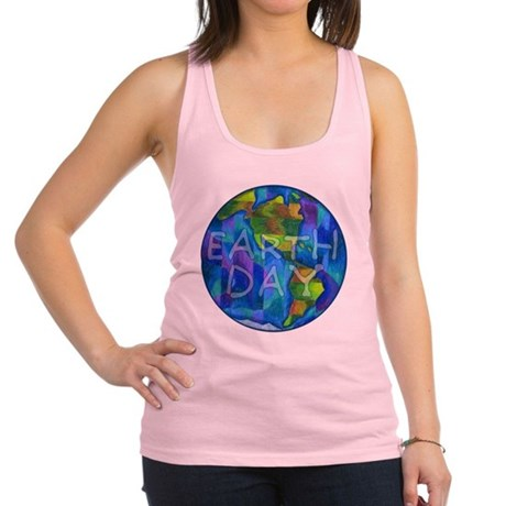 Earth Day Planet Racerback Tank Top