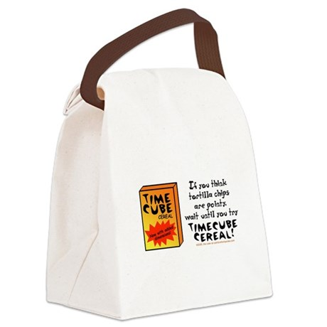 Time Cube Cereal Canvas Lunch Bag