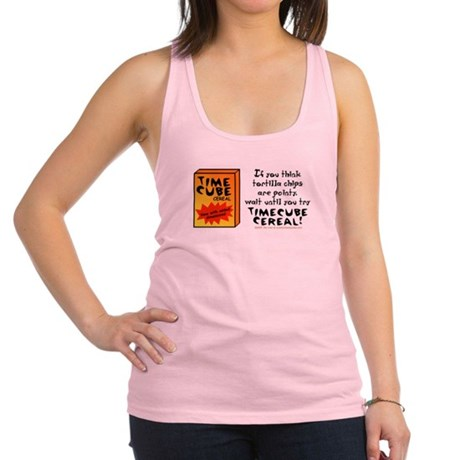 Time Cube Cereal Racerback Tank Top