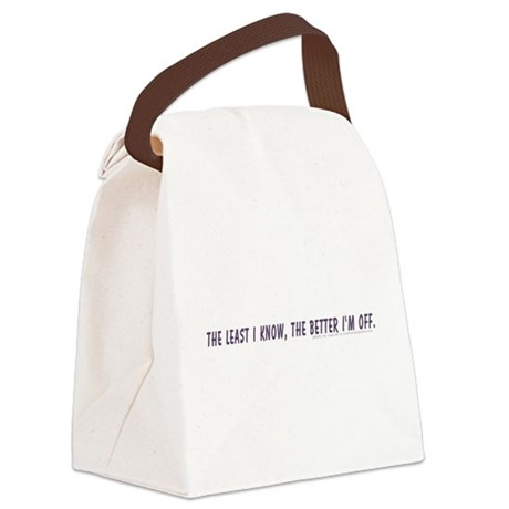 theleastiknow-shirt.jpg Canvas Lunch Bag