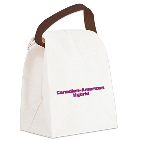 Canadian American Hybrid Canvas Lunch Bag