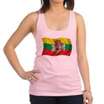 Wavy Lithuania Flag Racerback Tank Top
