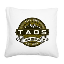 Taos Olive Square Canvas Pillow
