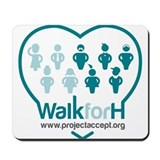 Walk for H Logo Mousepad