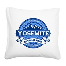 Yosemite Blue Square Canvas Pillow