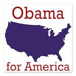 Obama for America Square Car Magnet